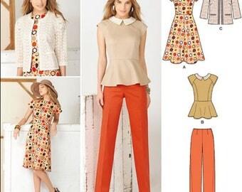 PLUS SIZE Sewing Pattern ~  Sew STYLISH Dress Top Pants Jacket 5 Sizes 1699