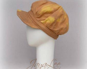 Distressed Newsboy Hat Workwear Bleached Sun Hat Cap