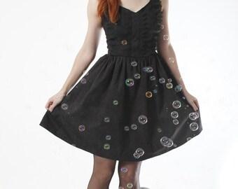 Dark Lace print dress