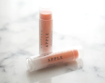 A P P L E - Comforting Essential Oil Scented, Organic Lip Balm, Natural Lip Balm