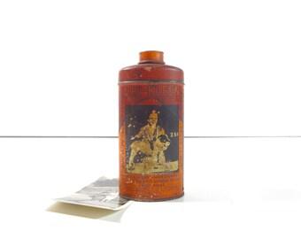 Vintage Dog Shampoo Tin / Hartz Dri-Kleen Dog Bath Advertising Tin / Rustic Decor
