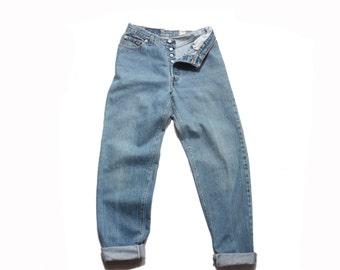 28 waist | 1980's Vintage Levi's 501 High Waist Denim Button Fly Jeans