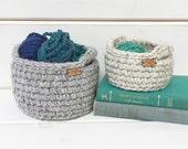 Best Friend Gift Basket / Crochet Basket / Storage Bin / Storage Basket with Handles / Entryway Organizer / Jewelry Dish / Christmas Gift