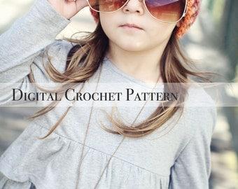 Crochet Pattern / Hat Pattern / Ribbed Brim Slouchy Hat Pattern 006 / Women's Hat Pattern / Children's Hat Pattern
