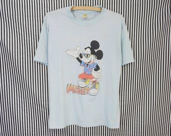 Distressed Vintage Mickey Mouse Kansas City Souvenir T-Shirt Men's M