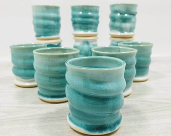 Ceramic Espresso Cups, Blue, Espresso Cup, Set of 2