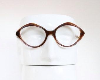 Vintage 50's Brown Tortoise Cat Eyeglass Frames