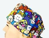 Unisex Scrub Cap - Nintendo scrub hat - Super Mario Scrub Cap - Mario Bros Scrub Hat - Character scrub hat - Kid's design scrub hat