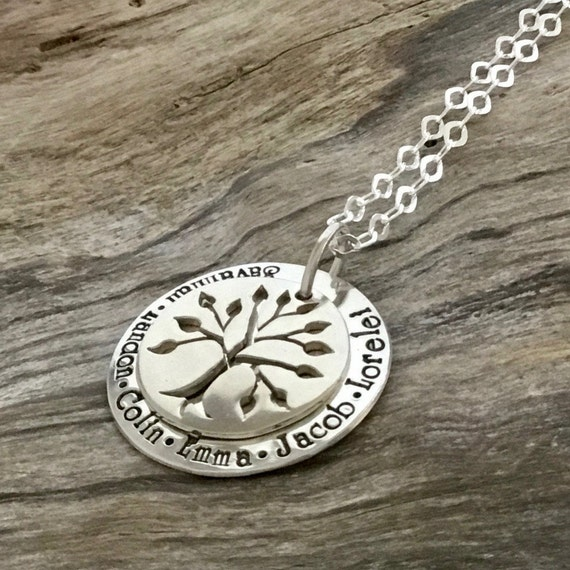 Mothers Necklace with Names / Family Tree Necklace / Mom Jewelry / Personalized Jewelry