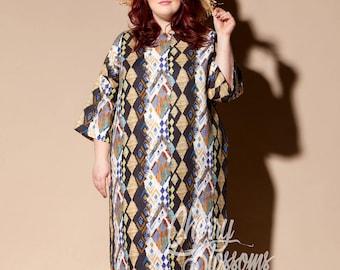 Plus size linen dress/ Plus size dress/ Plus size Kaftan/ Plus size clothing/ Plus size Long dress/ Plus size summer dress