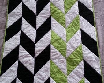 Custom Herringbone Quilt, Baby Blanket, Crib Quilt, Toddler Blanket, Snuggle Quilt, Security Blanket, Throw Blanket, Travel Blanket