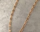 Robin - Antique 14kt rose gold watch chain.