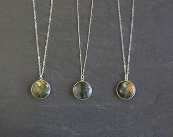Labradorite Necklace // Silver Labradorite // Labradorite // Labradorite Jewelry // Labradorite Bezel // Labradorite