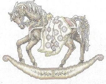 Dreamscape Misty Leaflet 3 Counted Cross Stitch Pattern Book Brown Rocking Horse Charted Design Teresa Wentzler Needlework