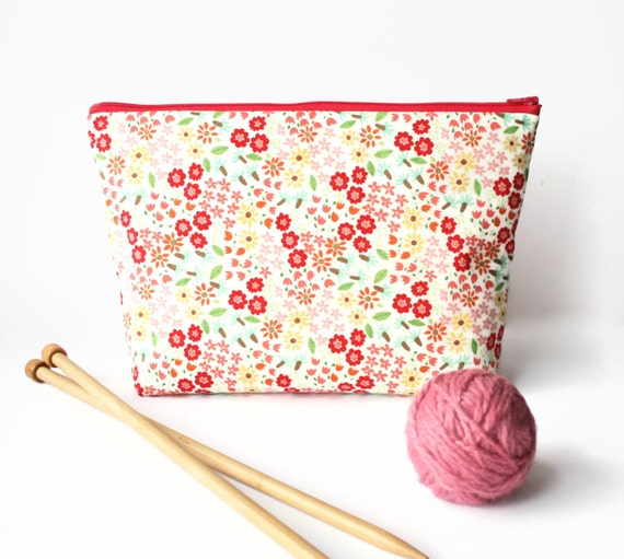 Knitting Project Bags Uk : Knitting bag pink crochet project