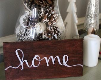 "Custom Hand Lettered Oak Wood Sign - 6""x12"", Home Decor, Wedding Decor"