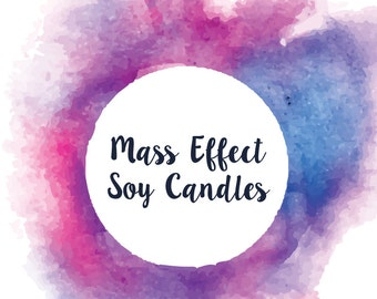 Mass Effect Inspired Soy/Coconut Candles