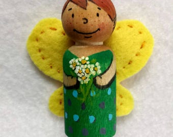 Peg Doll, Kindness Fairies hand painted peg dolls, fairy doll, waldorf toy, imaginative play, waldorf doll, birthday present, outdoor play