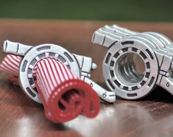 Napkin Rings Set of 8 Napkin Ring Holders Napkin Rings Vintage Wilton Pewter Napkin Rings Cannon Napkin Rings 4th of July Wilton Armetale