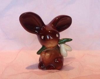 1950s Goebel-Hummel Snowdrop Rabbit Figurine. Easter Gifts.