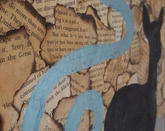 Harry Potter Canvas Always Patronus Antique Book Pages Wall decor