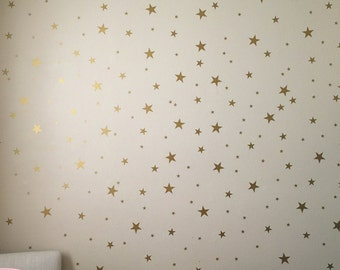Gold Star Decals - Star Wall Decals - Nursery Wall Decals - Star Wall Stickers - Baby Room Decor - Star Stickers - Star Decals - Stars