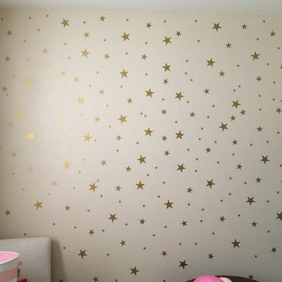 Gold Star Decals Star Wall Decals Nursery Wall Decals