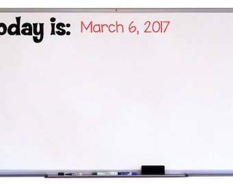 Today Is Decal for Classroom, Whiteboard Decal, Classroom Decor, Classroom Organization, Classroom Art, Classroom Sign, Chalkboard Decal