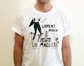 Women's March LA - Illustrated T-Shirt