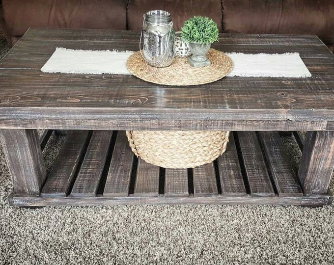 Coffee Table - Farmhouse Coffee Table - Rustic Coffee Table
