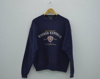Banana Republic Vintage Sweatshirt Vintage Banana Republic Pullover Made in USA Mens Size S