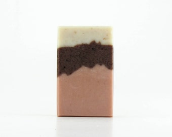 Rose Hip & Pink Clay Handmade All Natural Soap with gentle exfoliation