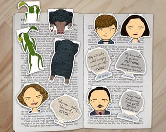 Fantastic Beasts Magnetic Bookmarks Set - Newt, Tina, Queenie, Jacob, Pickett, and Niffler Clips