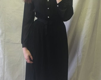 Vintage Gossamer Black Accordian Pleat Dress