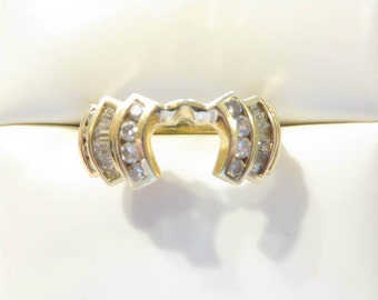 Gorgeous 14k Yellow Gold .65 Ct Diamond Ring Guard / Jacket