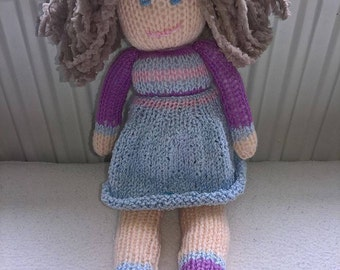 Hand Knitted Baby Doll.