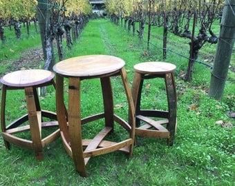 barrelhead bistro set wine barrel furniture napa valley bar tall table stools indoor outdoor source side l
