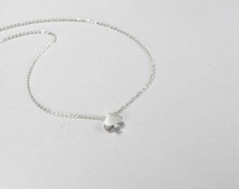 Personalized Spade Necklace, Spade Bracelet, Silver Spade Jewelry,Spade Charm,Bracelet,gift for new mom,Initial Heart Bracelet,Dainty Spade