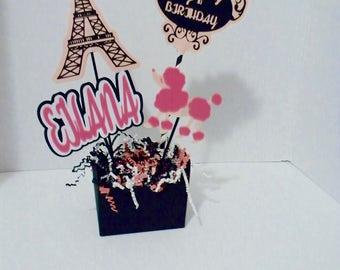 Paris Centerpiece Personalized