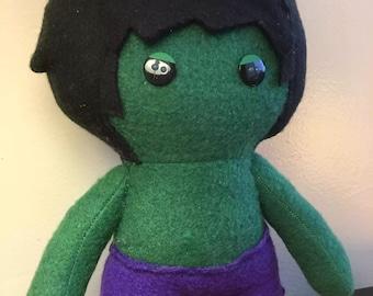 Hulk Marvel Avenger Fleece Plush Doll