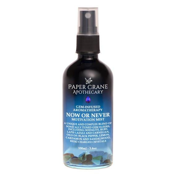 NOW OR NEVER - Motivation Mist - Gem-Infused Aromatherapy - Gem Elixir - Crystal Healing