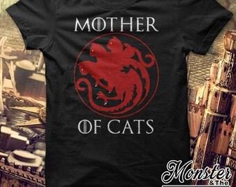 Mother Of Cats Ringspun T-Shirt All Sizes Women's - 6XL