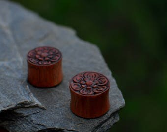 Organic Flower Spiritual Plugs II (Wood)