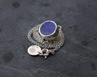 Starry Night Lapis Lazuli silver necklace