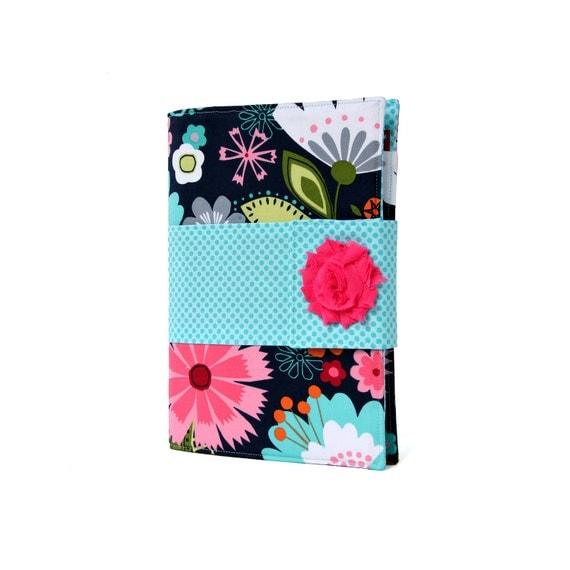 Navy Floral Chic Shopper, To do list, Journal, Notebook, Planner, Bridesmaid gift, Hostess gift, Teacher gift, Notepad, Writing Portfolio