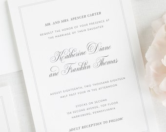 Simply Classic Wedding Invitations - Deposit