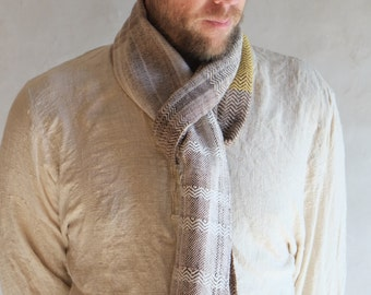 Fiber Love Earth Hug - Handwoven Everyday Luxury Scarf Raw Silk, Merino, Sea Cell & Silk