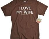 Fathers Day Gifts Fishing Shirt - Gift for Dad Fisherman Husband Fishing Gift for Man Tshirt - I LOVE it when MY Wife ® Fishing T-shirt