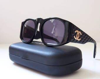Chanel vintage sunglasses - Black quilted