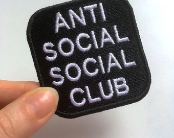 Anti Social Social Club embroidery patch or pin